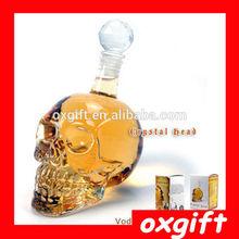 OXGIFT Small Size 125ML Crystal Glass Skull Vodka Drinking Bottle Decanter