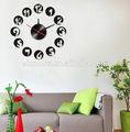 Diy personalizado adesivos de parede relógio, Relógio de parede EVA adesivo, 3D relógio digital wall sticker