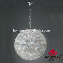 Silver color spherical pendant light