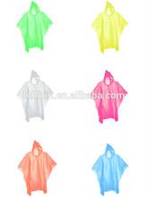 Disposable plastic rain cover coat