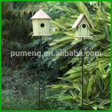 Decorative Handmade Painted Wood Bird Feeder House