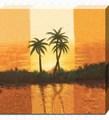 a paisagem de perto do lago sunset fotografia lona impressão de arte para decoração de casa