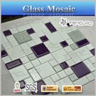 puzzle pattern glass mosaic table tops