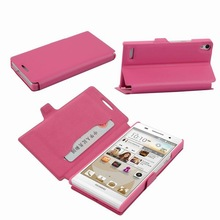 Mobile Phone Flip Leather Case for Huawei Ascend P6