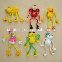 Custom 3D Resin Cartoon Dogs Animal Fridge Magnet With Movable String Legs