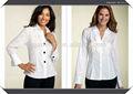 agraciado a medida talla l blanco hecho slim camisa de la mujer desgaste cómodo