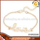 2014 Fashion Jewelry Cheap Wholesale Alloy Chain Charming Love Bracelets