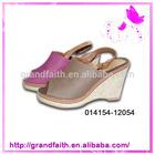 Factory Promotional Cute Printing Fashionable Girls High Platform Heel Sandals