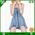 nuovo design cinghia di spaghetti donne denim abiti corti oem fornitore caldo ragazze senza vestiti foto