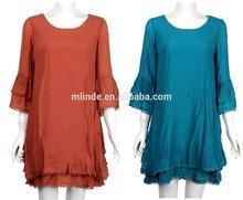 elegant tunic dress for women / western ladies tunic dress / 3/4 sleeve middle east wholesale plus size tunic dress