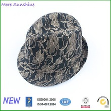 New Product Floral Fedora Lace Hats