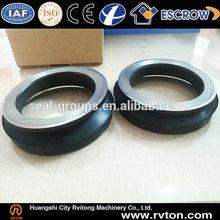 Black elastomer double lip oil seal