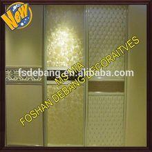 Home use ikea modern glass sliding door steel wardrobe furniture sale