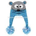 Tejidos de animales de la tapa, sombreros de loco para los niños, sombreros hechos a mano para los niños