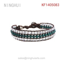 steady green beads bracelets pure handicraft cheap prices