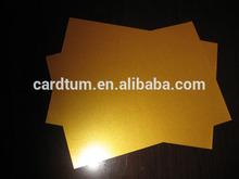 Gold inkjet PVC sheet for plastic card