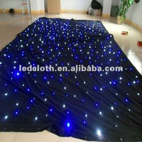 stage light ! white led star cloth for wedding decoration LED star curtain led vision curtain