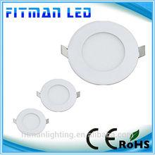 Ultra thin design 3W LED ceiling recessed slim round panel light