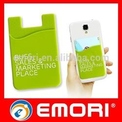 Custom print reusable lycra silicone smart mobile phone wallet