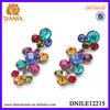 FASHION EARRONG COLORFUL SILVER DIAMOND EARRONG RHINESTONE EARRING