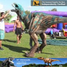 My Dino-M07 Light weight CE animatronic green dinosaur mascot costume