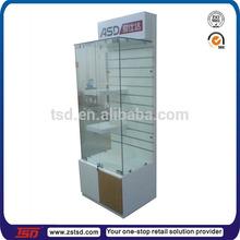 TSD-W935 Retail shop custom made modern free standing mdf wooden glass display cabinet