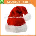 de color rojo santa de alta material de sombrero de papá noel para promociones feliz navidad