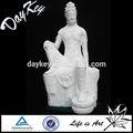 白大理石彫刻が施された仏像、 販売のための石の彫刻仏
