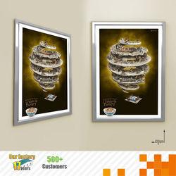 2014 Hot selling led crystal light box frame for Advertisment