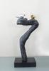Polyresin Sculpture, Black Ornament, Home Decoration