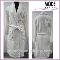 men's coral fleece bathrobe, sleep robe, fleece robe