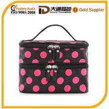 zip lock bag double compartments spot cosmetic bag