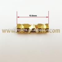 10.6*3 mm Jewelry Findings Metal seamless threaded brass tube