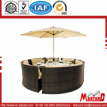 outdoor oval rattan table and chairs