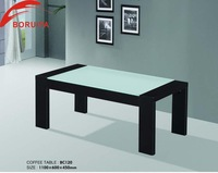 wooden led glass top coffee table/modern black high gloss coffee table