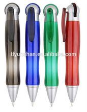 Wheel action ball pen fat pen cute plastic ball pen