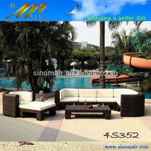 4s352 leisure patio furniture PE rattan outdoor corner sofa
