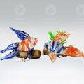 venta al por mayor hecho a mano de color de vidrio de pescado