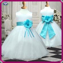 Wholesale flower girl dress cute ribbons short white lace flower girl net dresses