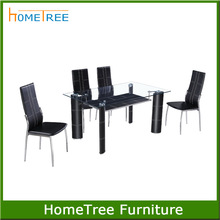 Cheap modern metal dining table and chairs