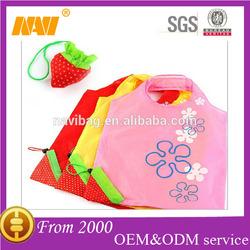 Unique Strawberry Nylon Foldable Reusable Shopping Bags