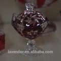 Colorido footed doces jarra de vidro/pequeno buffet de doces jarra de vidro