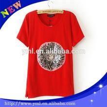 2014 fashion cotton t shirts red bulk cotton spandex t shirt