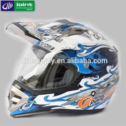 ABS material ECE motorcycle full face helmet / cross helmet