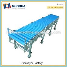 Gravity flexible PP plastic roller conveyor system