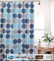 custom design polyester cotton fabric shower curtain