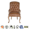 Antique living room furniture genuine leather arm chair