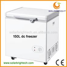 Manufacturer supply solar battery powered energy deep chest 12v car fridge freezer