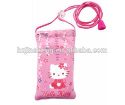 custom personalized polyester sling shoulder mobile phone bag