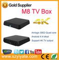 O mais novo 2014 aml8726-m8 core quad wifi google android s802 m8 tv box hd xxx imagem
